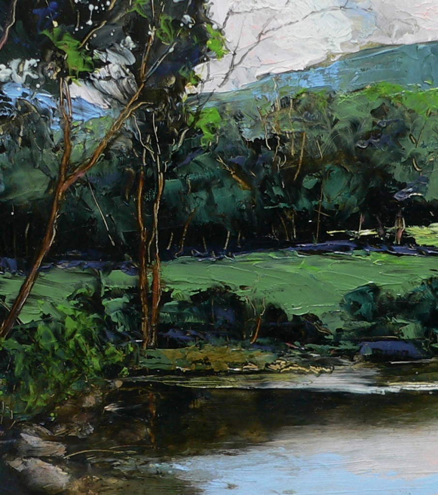 Summer Idyll, Cold River, detail