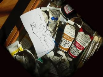Self portrait sketch, Roger Vincent Jasaitis, RVJart.com