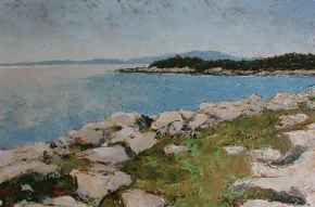 Acadia Maine, oil painting by Roger Vincent Jasaitis, Copyright Roger Vincent Jasaitis, RVJart.com