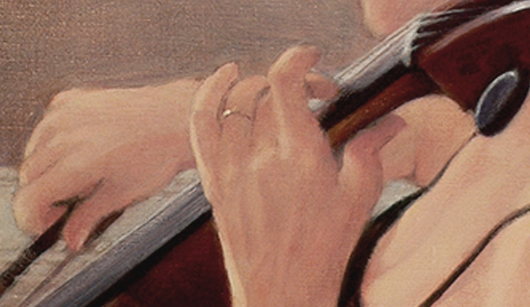 Diminuendo, detail, Oil painting by Roger Vincent Jasaitis, Copyright 2014 RVJart.com