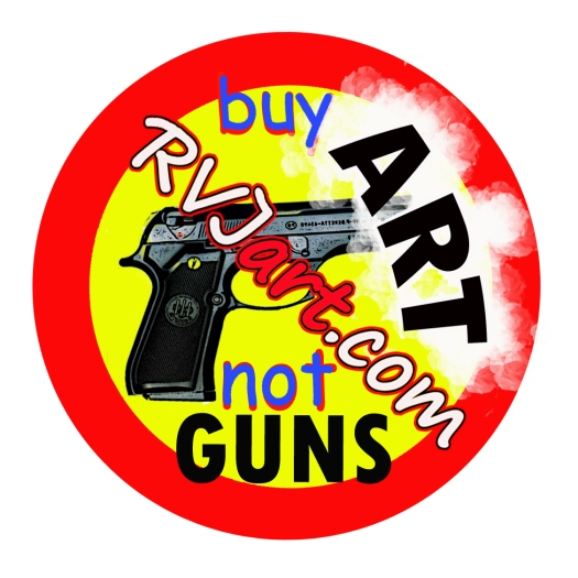 Buy Art Not Guns, donation button for RVJart.com
