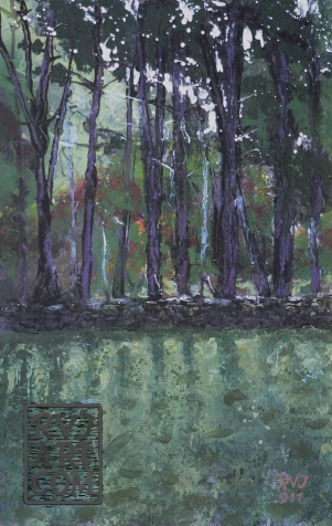 psalm 157, oil painting by Roger Vincent Jasaitis, RVJart.com