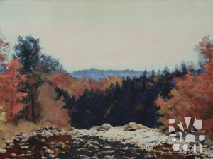 Bucketville, oil painting by Roger Vincent Jasaitis, copyright 2008, RVJart.com