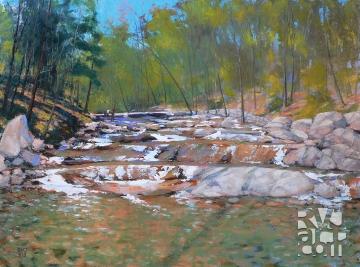 En Plein Air, oil painting by Roger Vincent Jasaitis, copyright 2014, RVJart.com