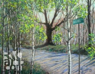 Hazel Hill, oil painting by Roger Vincent Jasaitis, copyright 2012, RVJart.com