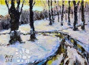 Muddy Sugarbush, oil painting by Roger Vincent Jasaitis, copyright 2013, RVJart.com