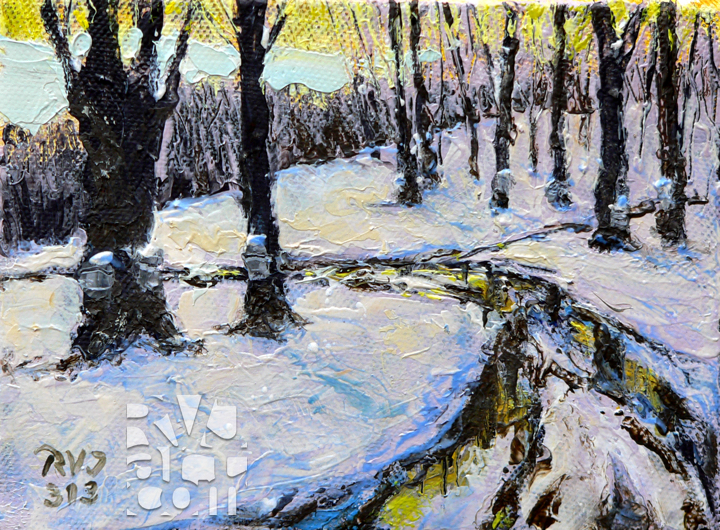 Muddy Sugarbush, oil painting by Roger Vincent Jasaitis, copyright 2013, RVJart.com