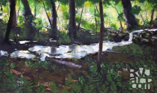 psalm 151, oil painting by Roger Vincent Jasaitis, copyright 2011, RVJart.com