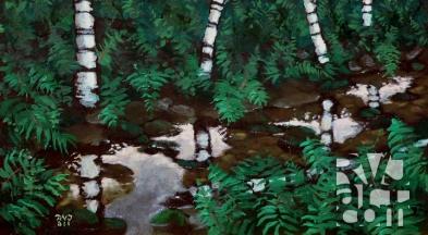 psalm 155, oil painting by Roger Vincent Jasaitis, copyright 2011, RVJart.com