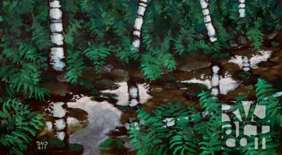 psalm 155, oil painting by Roger Vincent Jasaitis, copyright 2011, RVJart.com