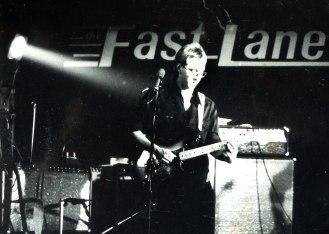 Photo of Roger Vincent Jasaitis at The Fast Lane, Asbury Park, circa 1980.