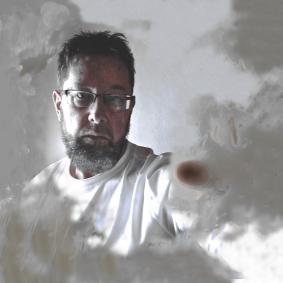 RVJ_Winter15, self portrait by Roger Vincent Jasaitis, copyright RVJart.com