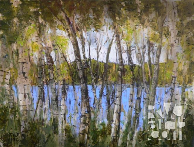 Somerset, oil painting by Roger Vincent Jasaitis, copyright 2007, RVJart.com