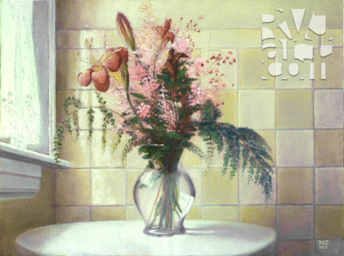 A Simple Gift, oil painting by Roger Vincent Jasaitis, copyright 2003, RVJart.com