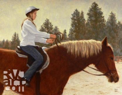 Alison, oil painting by Roger Vincent Jasaitis, copyright 2004, RVJart.com