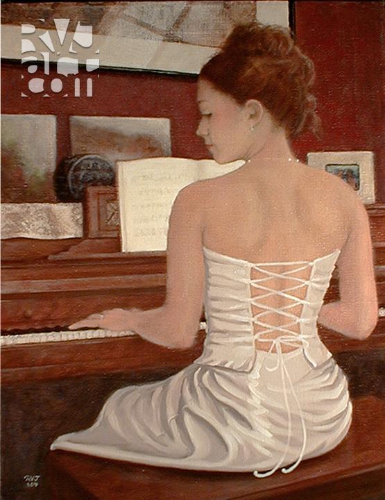 Ashley, oil painting by Roger Vincent Jasaitis, copyright 2004, RVJart.com