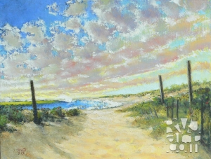 Beach Haven, oil painting by Roger Vincent Jasaitis, copyright 2012, RVJart.com