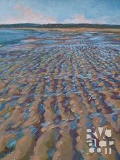Crescent Beach, oil painting by Roger Vincent Jasaitis, copyright 2007, RVJart.com