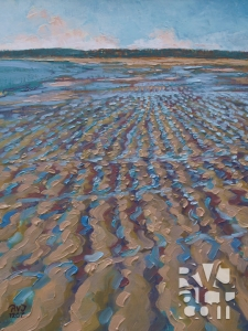Crescent Beach, oil painting by Roger Vincent Jasaitis, copyright 2007, RVJart.com