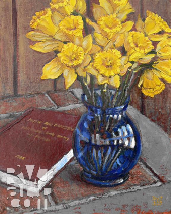 Faith&Practice, oil painting by Roger Vincent Jasaitis, copyright 2005, RVJart.com
