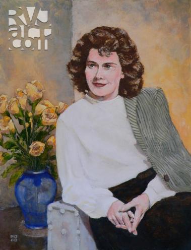 Jane Katherine, oil painting by Roger Vincent Jasaitis, copyright 2013, RVJart.com