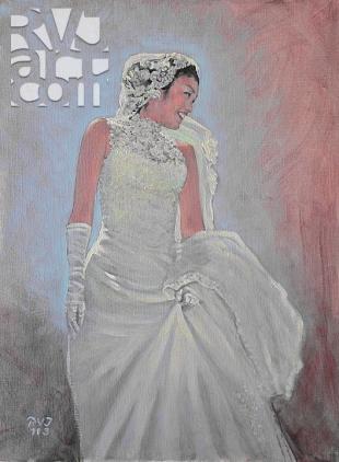 Kana's Wedding Day, oil painting by Roger Vincent Jasaitis, copyright 2013, RVJart.com