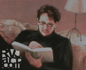Kyle, oil painting by Roger Vincent Jasaitis, copyright 2008, RVJart.com