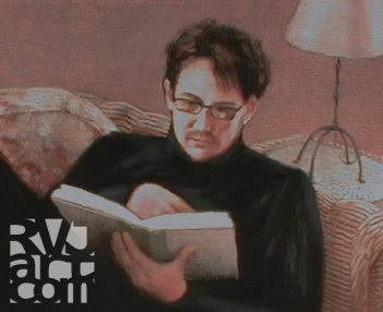 Kyle, oil painting by Roger Vincent Jasaitis, copyright 2008, RVJart.com