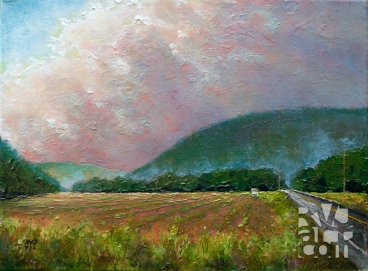 Leaving Townshend, oil painting by Roger Vincent Jasaitis, copyright 2014, RVJart.com