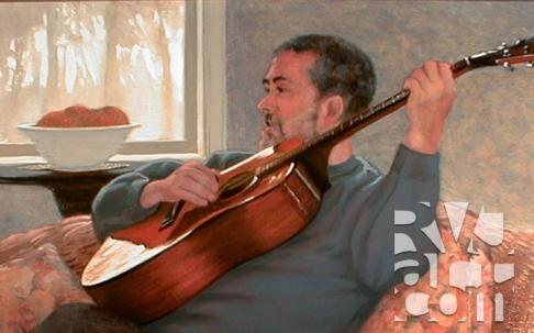 Lenie, oil painting by Roger Vincent Jasaitis, copyright 2008, RVJart.com