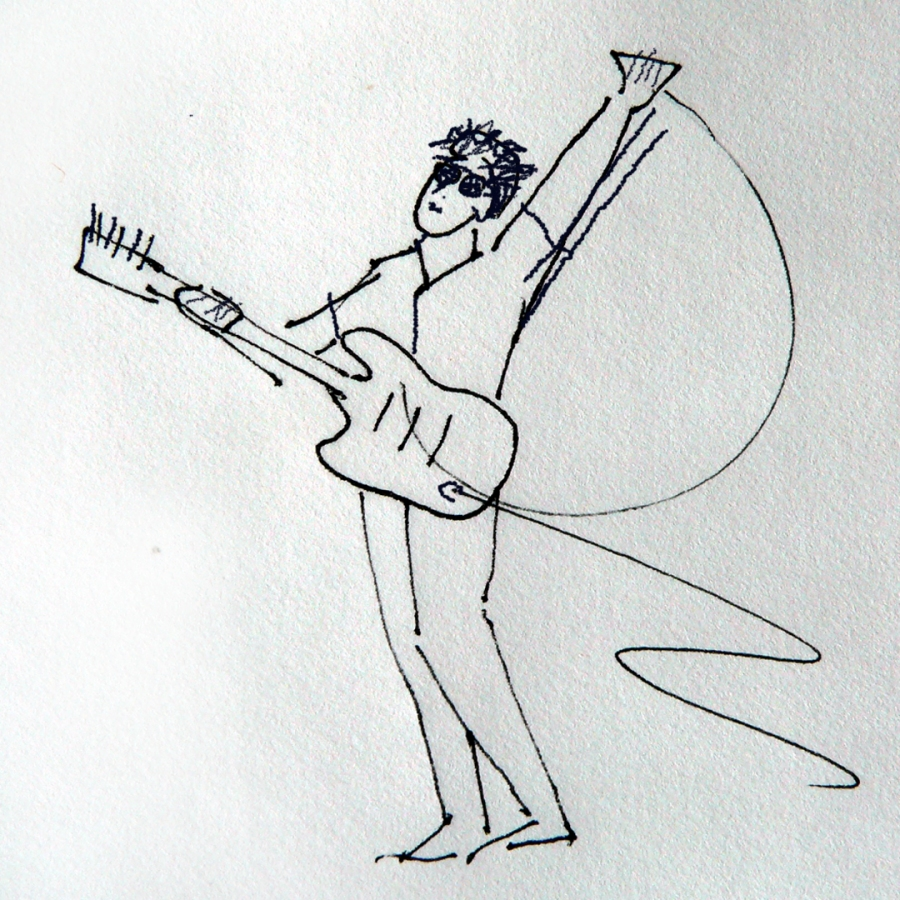 Rockin' Roger, drawing,  donate to RVJart.com to keep it ad free.