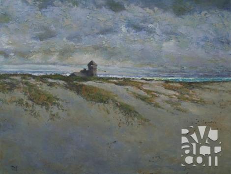 SOS,oil painting by Roger Vincent Jasaitis, copyright 2013, RVJart.com