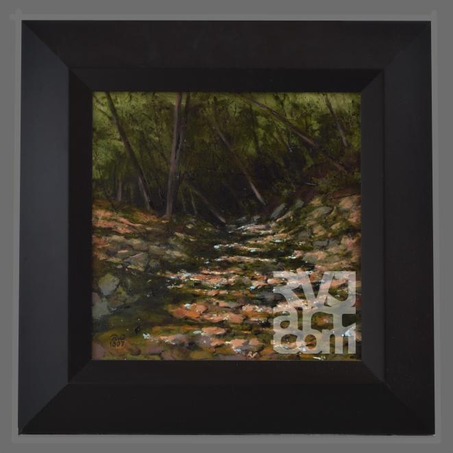 Dark Brook, oil painting by Roger Vincent Jasaitis, copyright 2007, RVJart.com