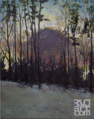 psalm 188 Winter Twilight, oil painting by Roger Vincent Jasaitis, copyright 2015, RVJart.com