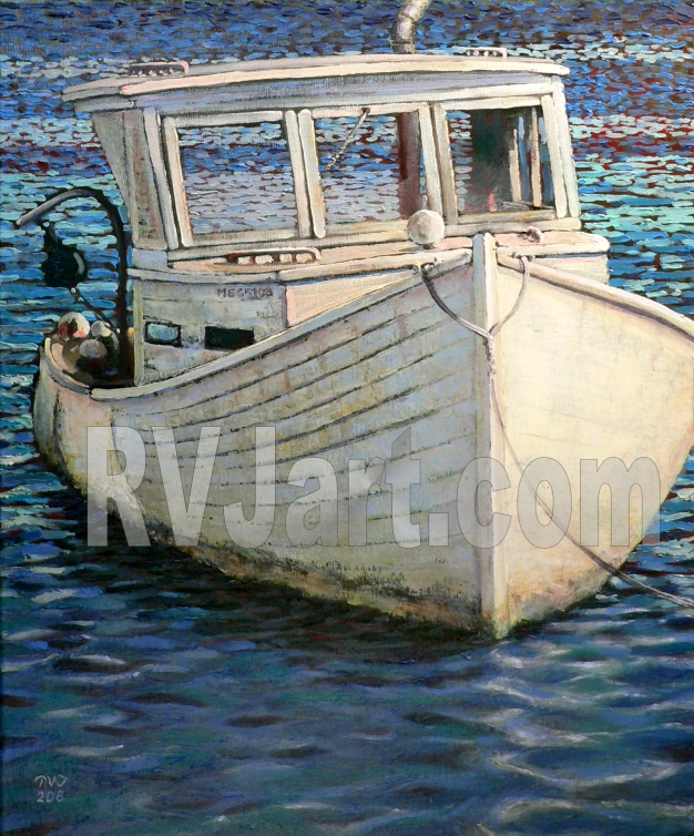 Old Timer, Oil painting by Roger Vincent Jasaitis, Copyright Roger Vincent Jasaitis, RVJart.com
