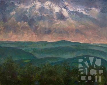 psalm 192, Putney Mtn View , Oil painting by Roger Vincent Jasaitis, Copyright 2016, RVjart.com