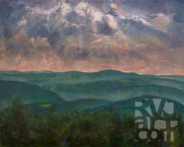 psalm 192, Putney Mtn View , Oil painting by Roger Vincent Jasaitis, Copyright 2016, RVjart.com