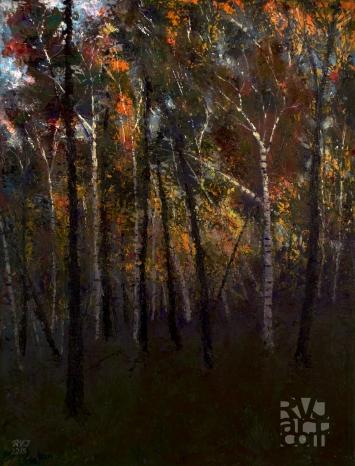 psalm 193, Last Light, Oil painting by Roger Vincent Jasaitis, Copyright 2015, RVJart.com