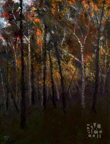 psalm 193, Last Light, Oil painting by Roger Vincent Jasaitis, Copyright 2015, RVJart.com
