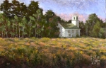 1791 Baptist Church, Goldenrod, oil painting by Roger Vincent Jasaitis, copyright 2007, RVjart.com