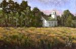 1791 Baptist Church, Goldenrod, oil painting by Roger Vincent Jasaitis, copyright 2007, RVjart.com