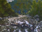 Mountain Brook, oil painting by Roger Vincent Jasaitis, copyright 2007, RVjart.com