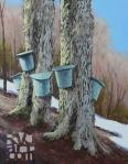 Sweet Spring, oil painting by Roger Vincent Jasaitis, copyright 2006, RVJart.com