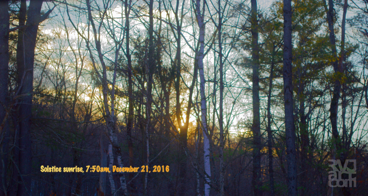 """Solstice Sunrise 2016"" , Photo by Roger Vincent Jasaitis, copyright 2016 RVJart.com"
