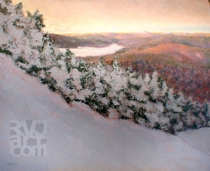 North Face Vista, oil painting by Roger Vincent Jasaitis, RVJart.com