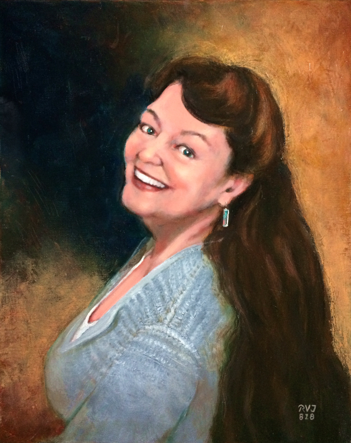 Sister Dale #2180801, Oil painting by Roger Vincent Jasaitis, RVJart.com, copyright 2018, all rights reserved.